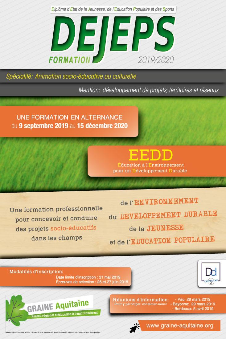 DEJEPS Animation Socio-Educative ou Culturelle Développement de Projets, Territoires et Réseaux « Éducation Environnement et Développement Durable »