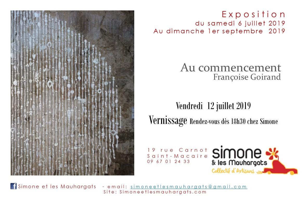 « Au commencement », Françoise Goirand