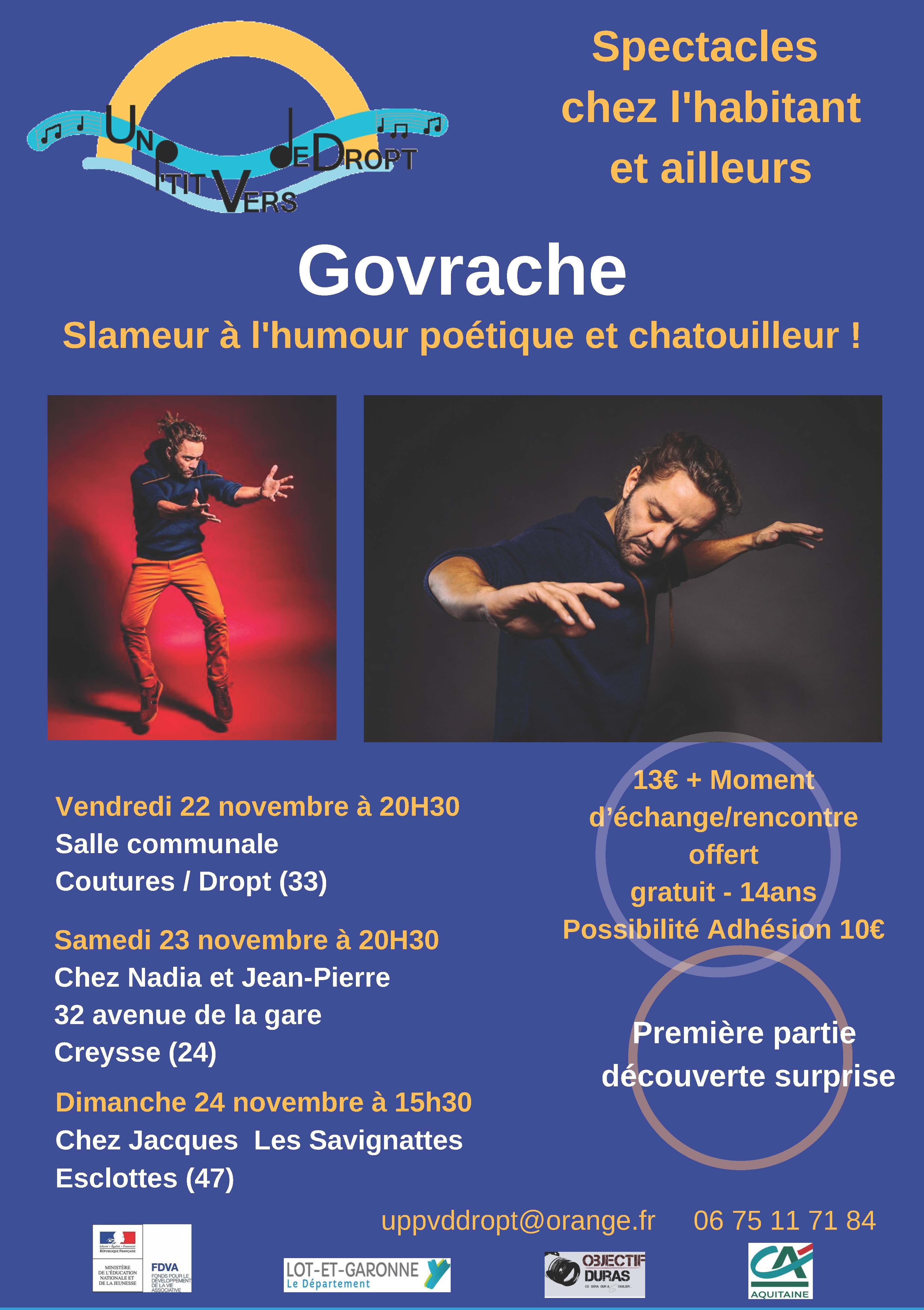 GOVRACHE // Chanson française - Slam poétique